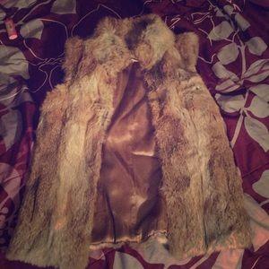 Rabbit fur Michael kors vest